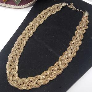 Elegant Big Braided Statement Necklace
